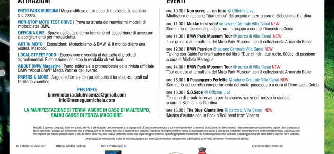 """BMW Motorrad Day Vicenza 2017 | Programma"""