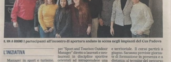 """""""EN ROUTE"""" per diventare Manager in Sport e Turismo"""